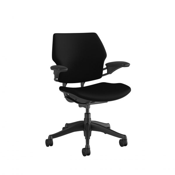 "freedomtaskchair black scaled <ul> <li>Standard Duron Arms</li> <li>Corde Textile Pattern</li> <li>Graphite Frame and Base</li> <li>Standard Cylinder 5""</li> <li>Standard Foam Seat Pan</li> </ul>"