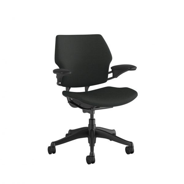 "freedomtaskchair graphite scaled <ul> <li>Standard Duron Arms</li> <li>Corde Textile Pattern</li> <li>Graphite Frame and Base</li> <li>Standard Cylinder 5""</li> <li>Standard Foam Seat Pan</li> </ul>"