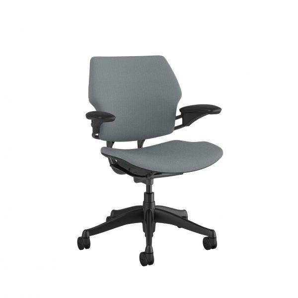 "freedomtaskchair mediumgrey scaled <ul> <li>Standard Duron Arms</li> <li>Corde Textile Pattern</li> <li>Graphite Frame and Base</li> <li>Standard Cylinder 5""</li> <li>Standard Foam Seat Pan</li> </ul>"