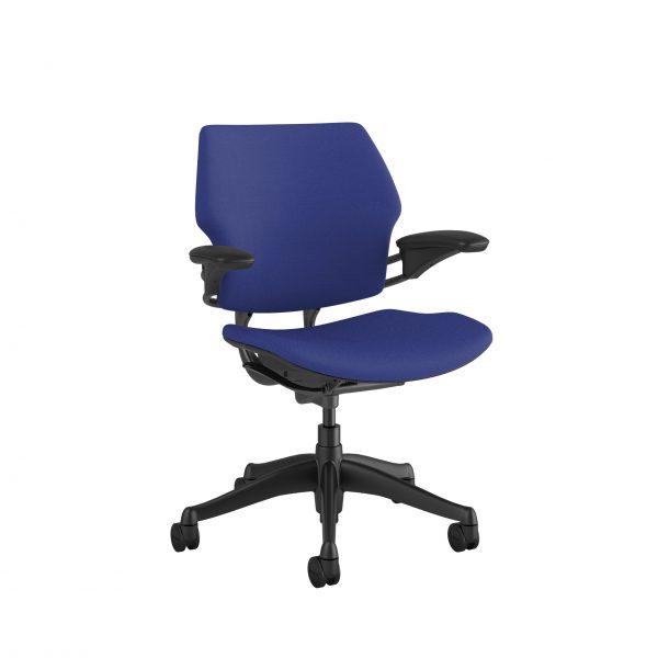 "freedomtaskchair thalo scaled <ul> <li>Standard Duron Arms</li> <li>Corde Textile Pattern</li> <li>Graphite Frame and Base</li> <li>Standard Cylinder 5""</li> <li>Standard Foam Seat Pan</li> </ul>"