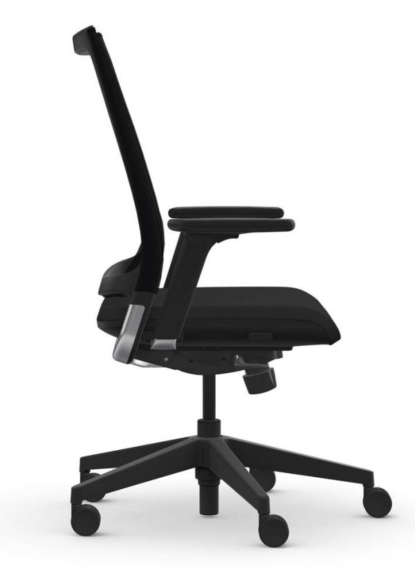 9to5 seating luna origin black alan desk 2 Specifications: <ul> <li>4-Way Height Adjustable Arms</li> <li>Full Synchro Mechanism</li> <li>Ships to Lower 48 States</li> </ul>