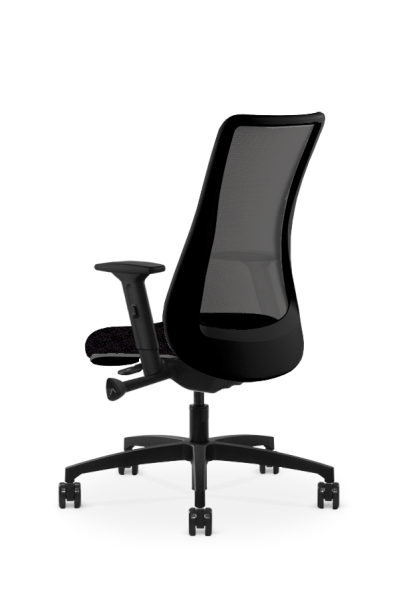 via seating genie black back <ul> <li>Standard A Seat</li> <li>Quick adjust advanced synchro with integrated seat slider</li> <li>Available in black and white frame colors</li> <li>Standard height adjustable arm</li> <li>Standard black nylon 26in base</li> <li>standard black carpet casters</li> <li>Mesh Back</li> </ul>