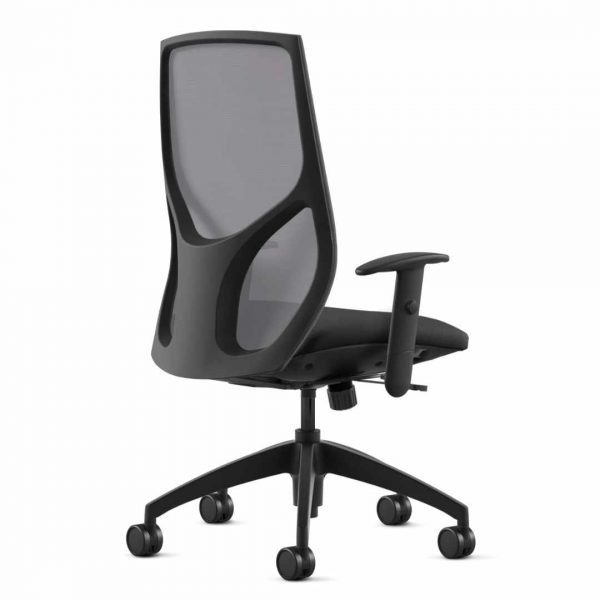 146 9to5seating task chair back • Ships in 24 hours • Minimal assembly, no tools required • Height- and width- adjustable arms • Integrated seat slider • Ratchet back • Gray mesh back, Air grid mesh seat and Molded foam seat • Warranted to 300 lbs.