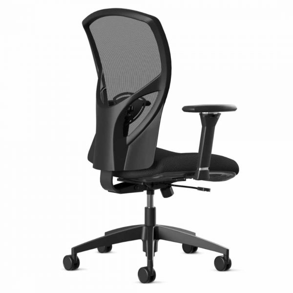 "216 9to5seating task chair back • Ships in 24 hours • Five-year warranty • Assembly required • Warranted to 300 lbs. • Graphite mesh back • Air grid mesh seat • 3"" thick molded foam"