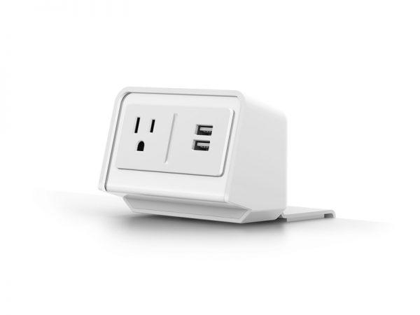 "ThreeQuarter White <ul> <li>Ships in 48 Hours</li> <li>Enmo - Silver Base and 48"" x 24"" Designer White Top</li> <li>Kata - White monitor Arm - Monitor weight capacity 4lb - 20lb</li> <li>Lily LEDX - Single arm LED task light with USB-A port</li> <li>FlexCharge3 - White - Personal desktop power - 1 AC Outlet and two USB Quick-charging ports</li> </ul>"