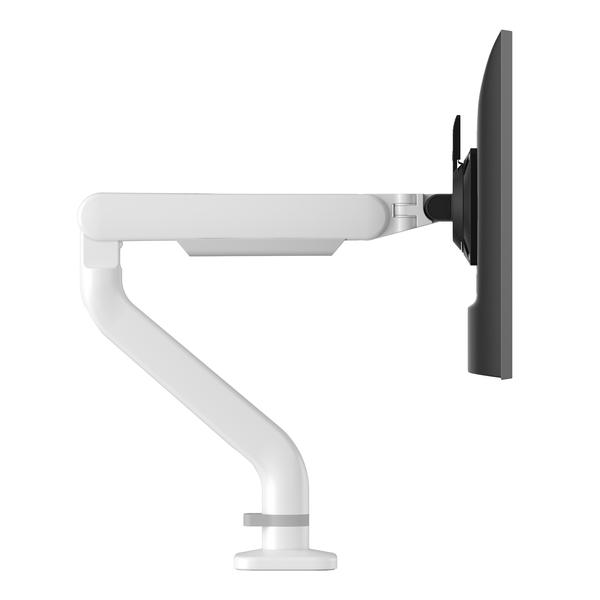 "kata single monitor arm <ul> <li>Ships in 48 Hours</li> <li>Enmo - Silver Base and 48"" x 24"" Designer White Top</li> <li>Kata - White monitor Arm - Monitor weight capacity 4lb - 20lb</li> <li>Lily LEDX - Single arm LED task light with USB-A port</li> <li>FlexCharge3 - White - Personal desktop power - 1 AC Outlet and two USB Quick-charging ports</li> </ul>"