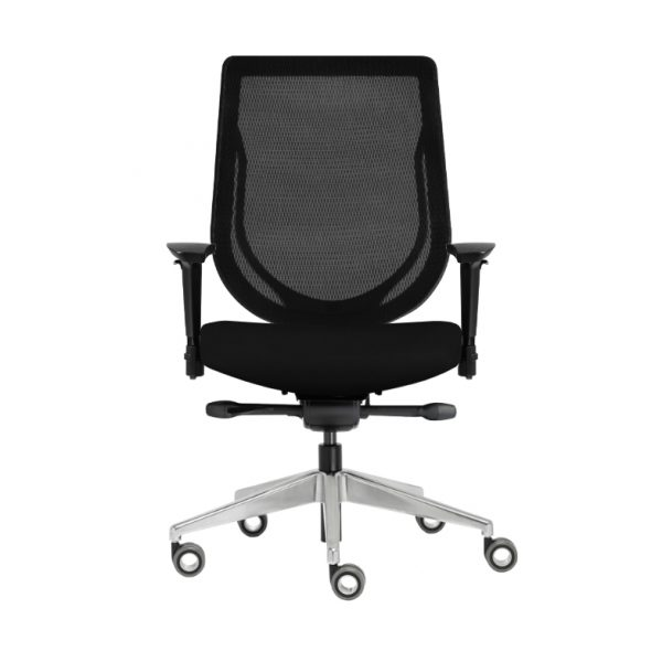 """AllSeatingModel 84012 T2 BK 3EB SS HAB KD F ONIGHT AS <ul> <li>Available in multiple base and frame color configurations</li> <li>Featuring M-3 Mesh: Color Ebony 