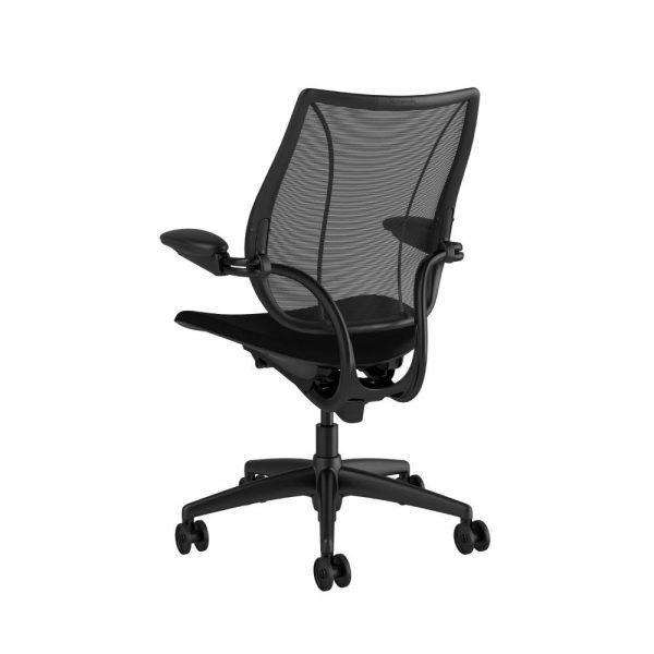 "Humanscale liberty black frame black fabric quickship 2 <ul> <li>Ergonomic Mesh Chair</li> <li>Adjustable Duron Arms</li> <li>Standard Foam Seat Pan</li> <li>Standard Cylinder 5""</li> <li>Standard Hard Casters</li> <li>Standard Matching Base</li> <li>Weight Capacity up to 300 lbs</li> </ul>"