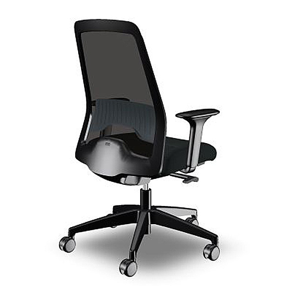 Interstuhl Everyis1 Task Chair black mesh and black frame
