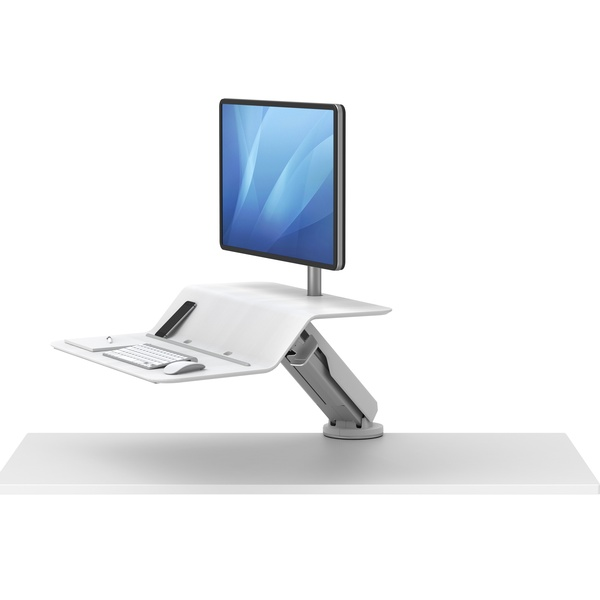 Lotus RT Sit Stand workstation in white
