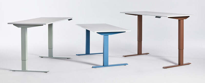 humanscale efloat standing desk in different colors